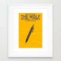 wolf of wall street Framed Art Prints featuring The Wolf of Wall Street - Pen by FelixT