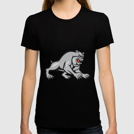 Bulldog Dog Mongrel Prowling Cartoon T-shirt