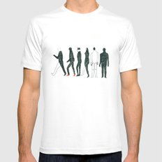 people White MEDIUM Mens Fitted Tee