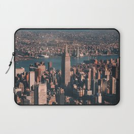 Empire State Building seen from a plane Laptop Sleeve