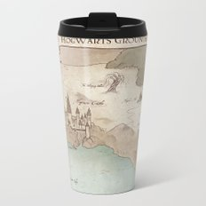 Map of Hogwarts Metal Travel Mug