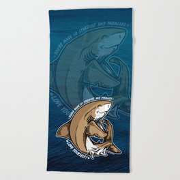 (v1) Love yourself! Beach Towel