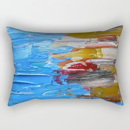 Beach Tide Acrylics On Stretched Canvas Rectangular Pillow