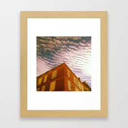 Tiger sky Framed Art Print