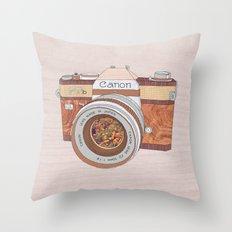 Wood Canon Throw Pillow