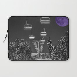 Chair Lift to the Purple Moon Laptop Sleeve