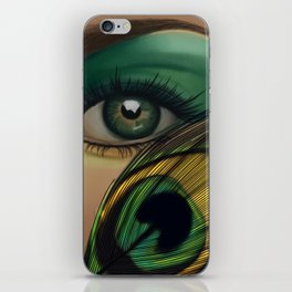 Through The Eye Of A Peacock iPhone Skin