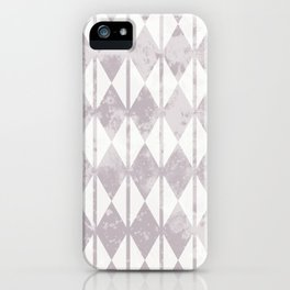 Geometric diamond shape and vertical lines pattern iPhone Case