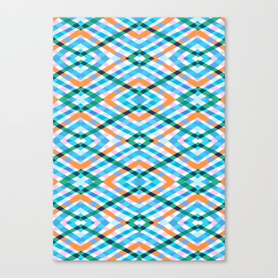The rustic link based on tenun ikat Canvas Print