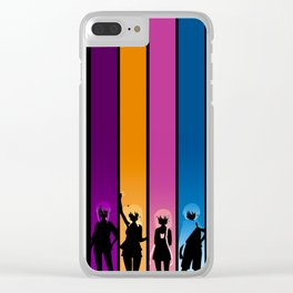 Silhouetted Manga Artists Clear iPhone Case