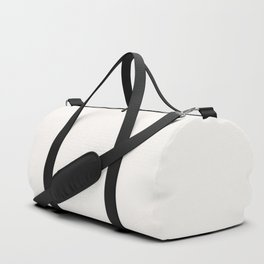 Creamy Off White Solid Color Pairs with Farrow and Ball All White 2005 - Accent to Arsenic 214 Duffle Bag