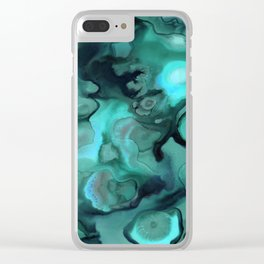 Ebb and Flow - Emerald Clear iPhone Case