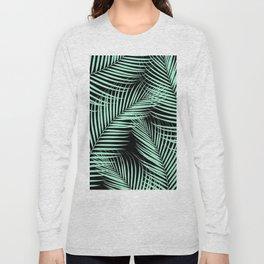 Palm Leaves - Mint Cali Vibes #1 #tropical #decor #art #society6 Long Sleeve T-shirt