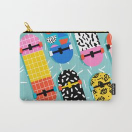 Omigod - 80s retro memphis skateboards pattern sports trendy 1980's vintage style retro Carry-All Pouch