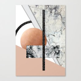 Collage II ( marble, copper, volcanic rock) Canvas Print