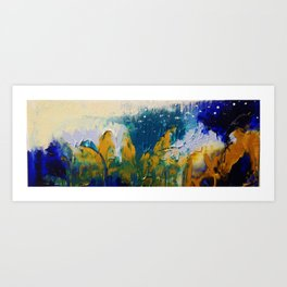 First snow over the forest. Art Print