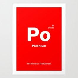 Polonium Art Print