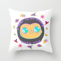 et Throw Pillows featuring ET by grecia colunga
