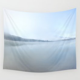 """Wild sunrise"". Foggy lake Wall Tapestry"