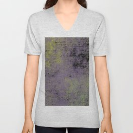 Darkened Sky - Textured, abstract painting Unisex V-Neck