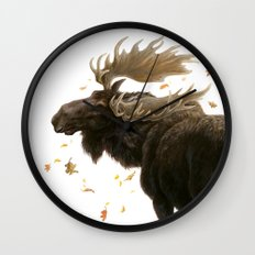 Moose Reflection Wall Clock