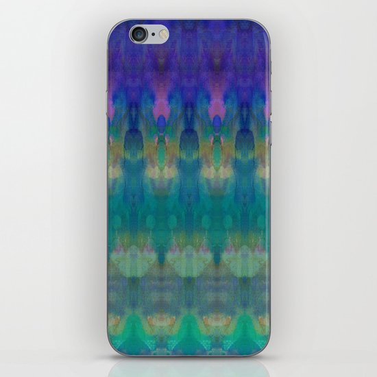 Tribal Diamonds Watercolour Blue iPhone Skin