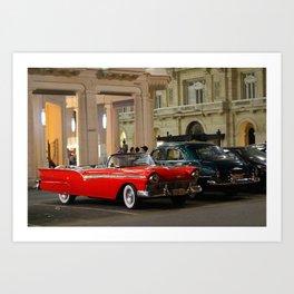 Cars in Havana Art Print