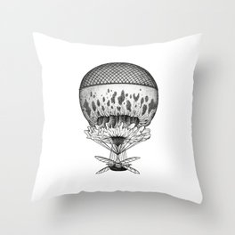 Jellyfish Joyride Throw Pillow