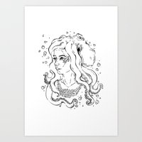 Octo girl Art Print