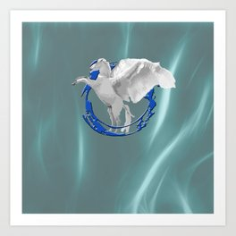 pegasus shield Art Print
