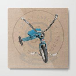 Blue Tricycle Metal Print