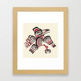 Salish Raven Framed Art Print