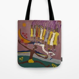 African American Masterpiece Swing Low, Sweet Chariot, by William Henry Johnson Tote Bag