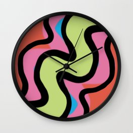Supergraphic Squiggle Wall Clock