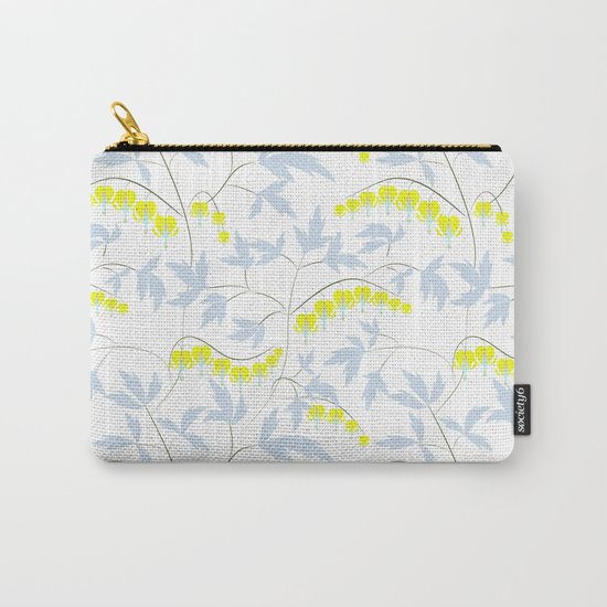 Floral pattern in yellow, blue, bright tone . Carry-All Pouch