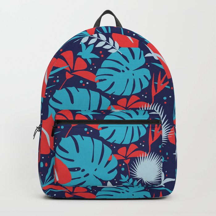Colorful tropical pattern. Backpack