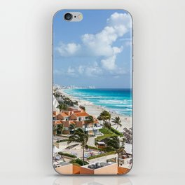 Cancun city on beachside iPhone Skin