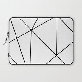 Geometric White Laptop Sleeve