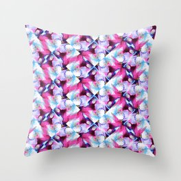 Rainbow Down Abstract Watercolor Painting Throw Pillow