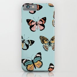 You Give Me Butterflies.. - Light Blue iPhone Case