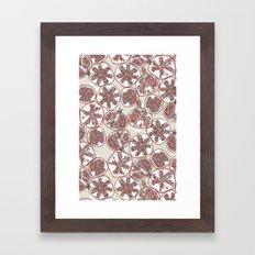 watercolor pomegranates Framed Art Print