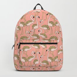 Flamingo Family // Peach Backpack