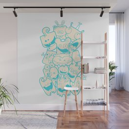 Crazy Monsters Wall Mural