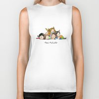 teen wolf Biker Tanks featuring Pack McCuddle - Teen Wolf by aredblush