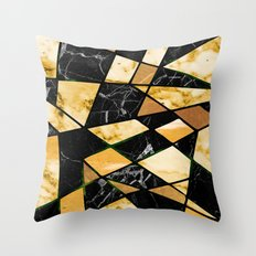 Abstract #460 Marble and Metal Throw Pillow