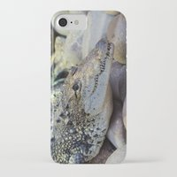 crocodile iPhone & iPod Cases featuring Crocodile by PICSL8