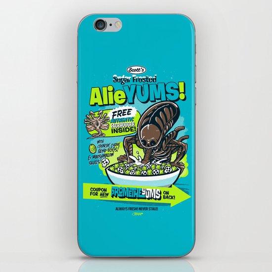 AlieYUMS! (blue variant) iPhone & iPod Skin