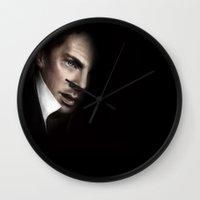 benedict Wall Clocks featuring Benedict Painting by Schwebewesen • Romina Lutz