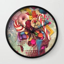Candy Skull Wall Clock