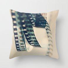 super 8 film Throw Pillow